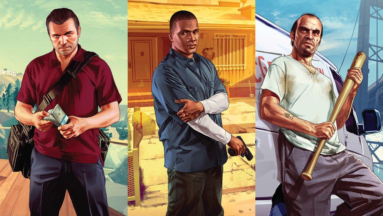 Grand Theft Auto V - Michael, Franklin, Trevor by eduard2009