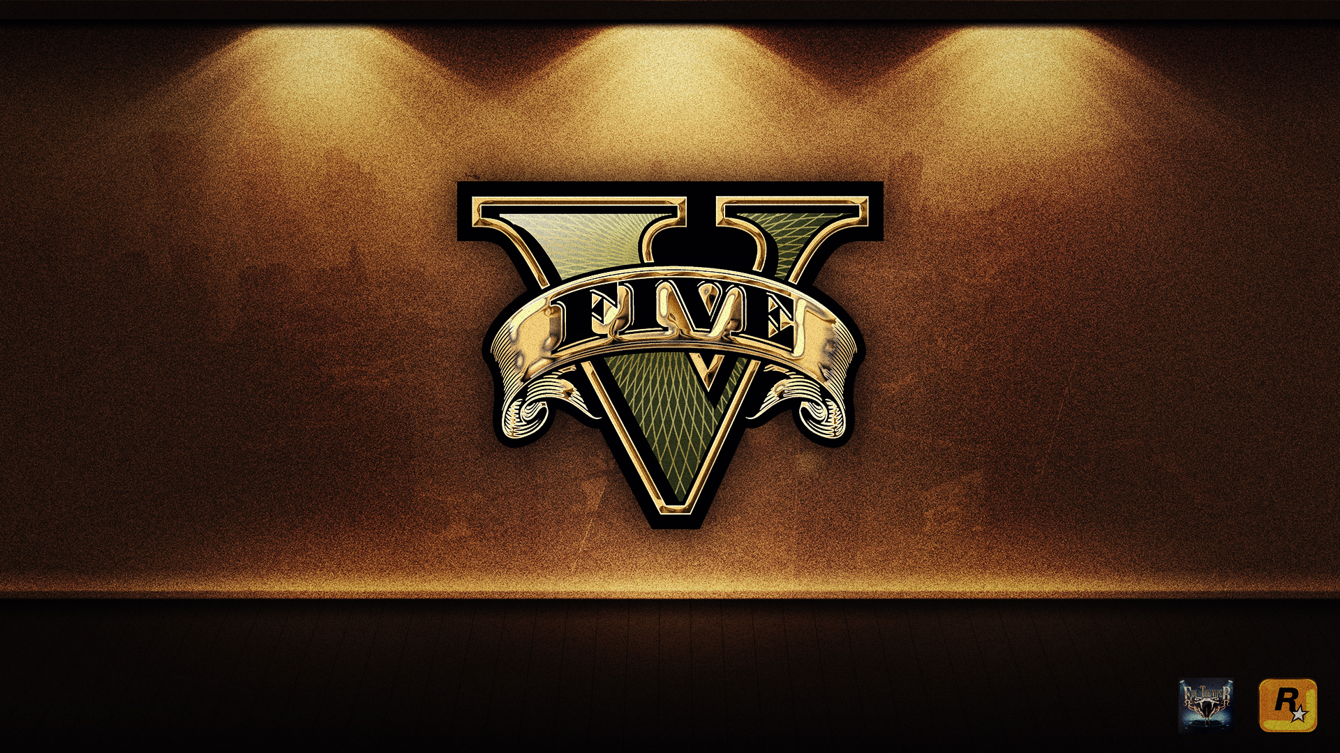 Grand Theft Auto V Gold Logo Wallpaper by eduard2009 on ... Grand Theft Auto V Logo