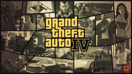 Grand Theft Auto IV Gold Logo Wallpaper
