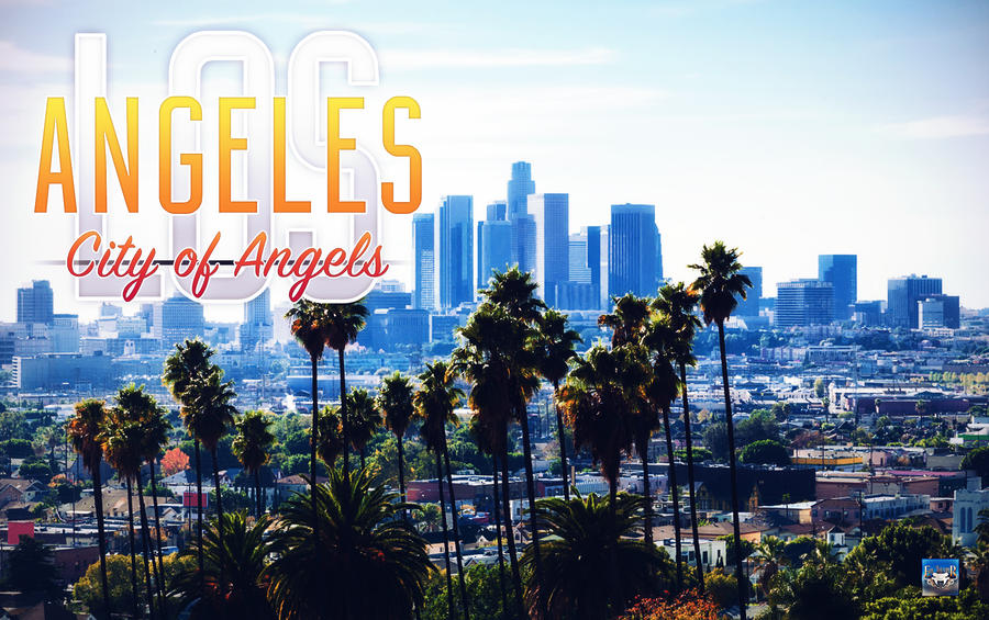 Los Angeles - City of Angels Wallpaper by eduard2009