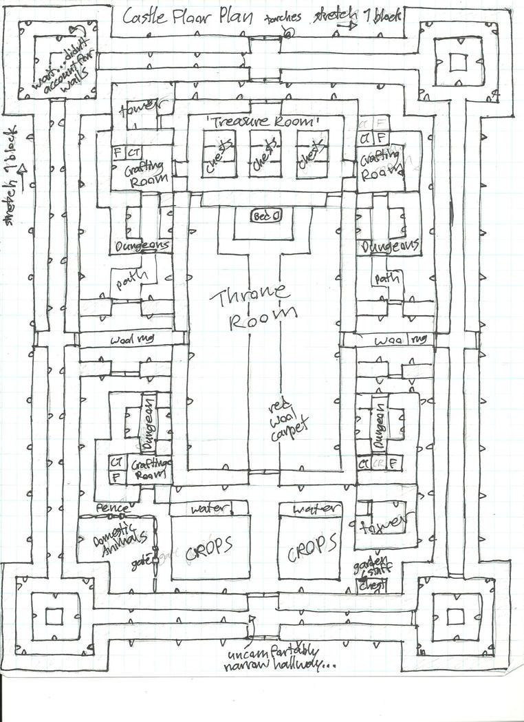 Minecraft blueprints higuchi castle floor map by for Minecraft blueprint maker