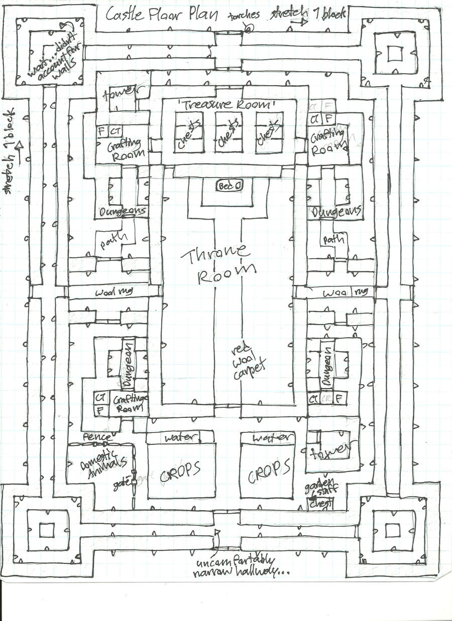 Minecraft Blueprints Higuchi Castle Floor Map By