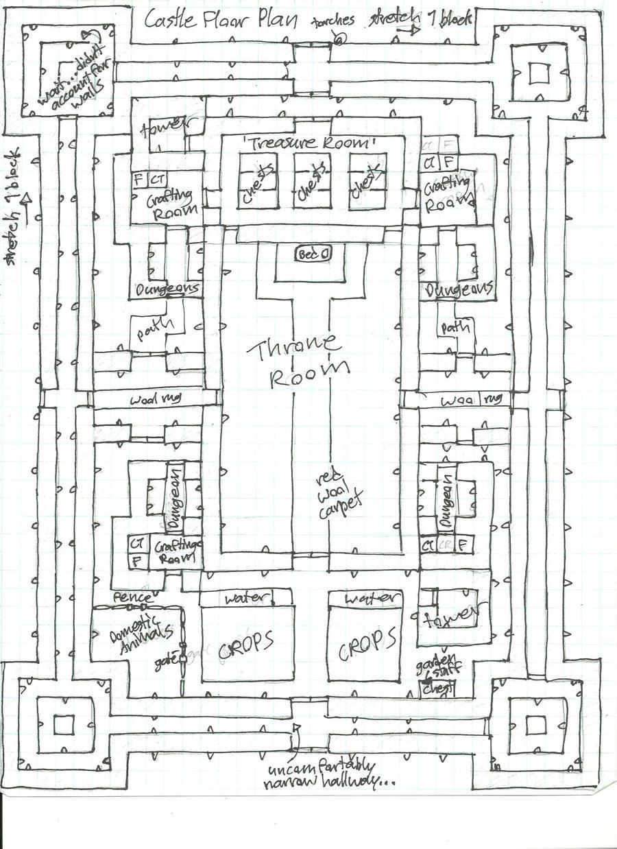 Minecraft Blueprints - Higuchi Castle