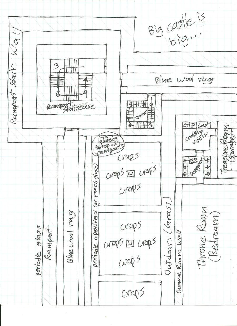Minecraft Blueprints Rampart Revision By Higuchiphoenix