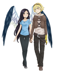 Commission-Ezreal and Mareina