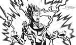 GOKU SSJ2 - Fan Art (Dragon Ball) by bat-19