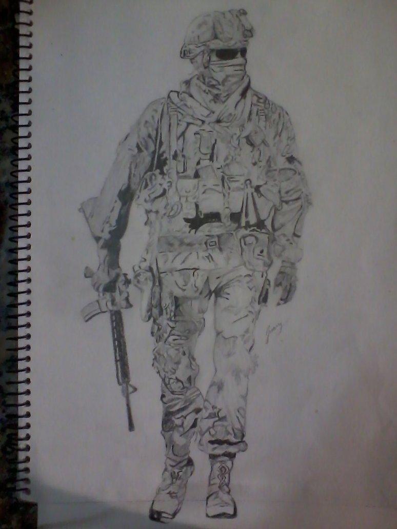 My Call Of Duty Drawing By Pandoruu On Deviantart