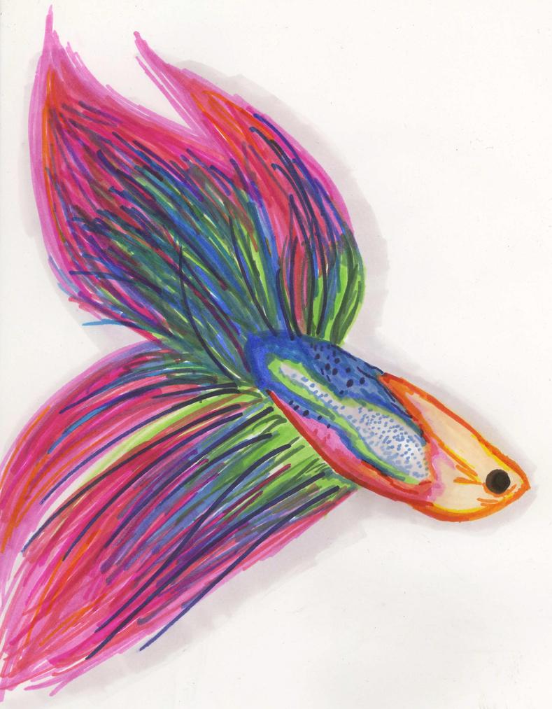 Betta Fish by LivyLemon on DeviantArt Betta Fish Drawings
