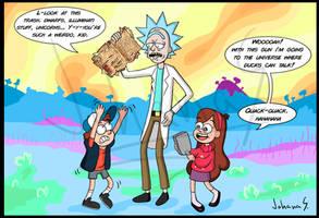 Rick and Morty - Gravity Falls Crossover by JohanaSmith