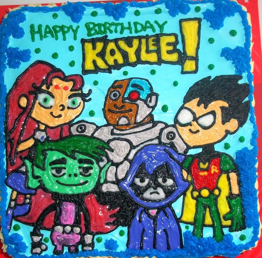 Teen Titans Cake by marandaschmidt