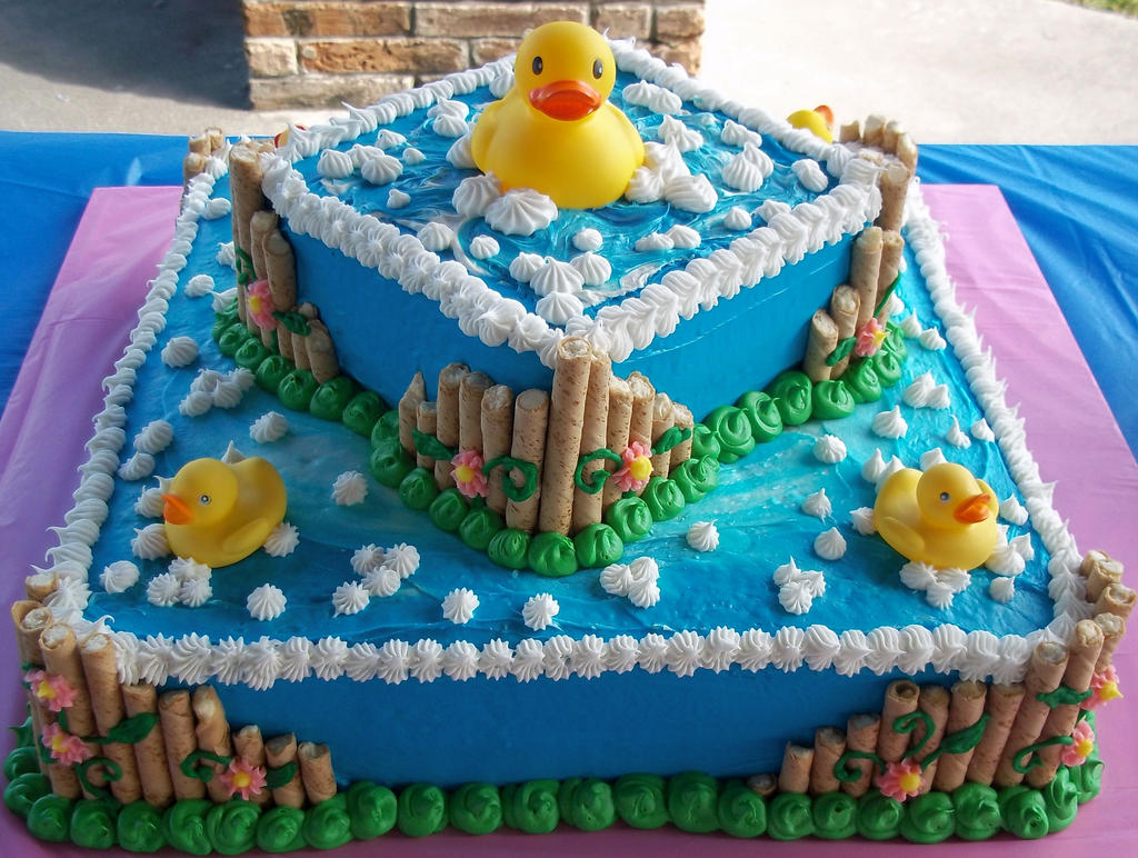 Rubber Duck Cake by marandaschmidt