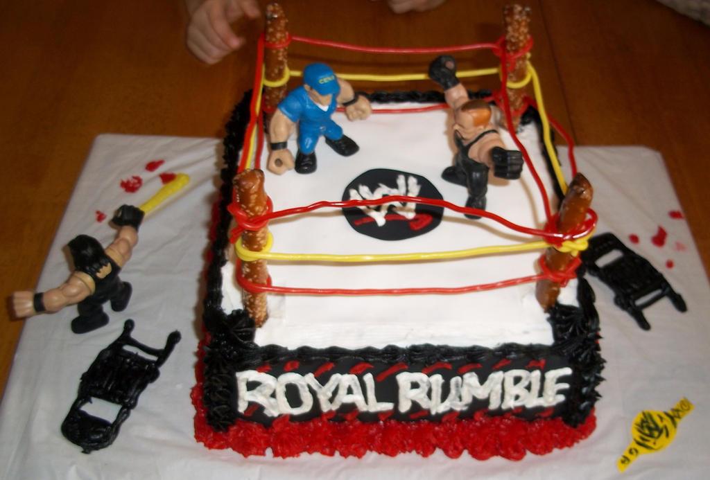 Wrestling Cake by marandaschmidt