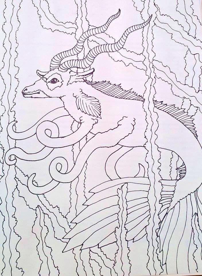weird sea creature by marandaschmidt