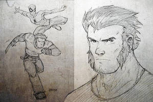 Wolverine and Webhead by GarrettByers