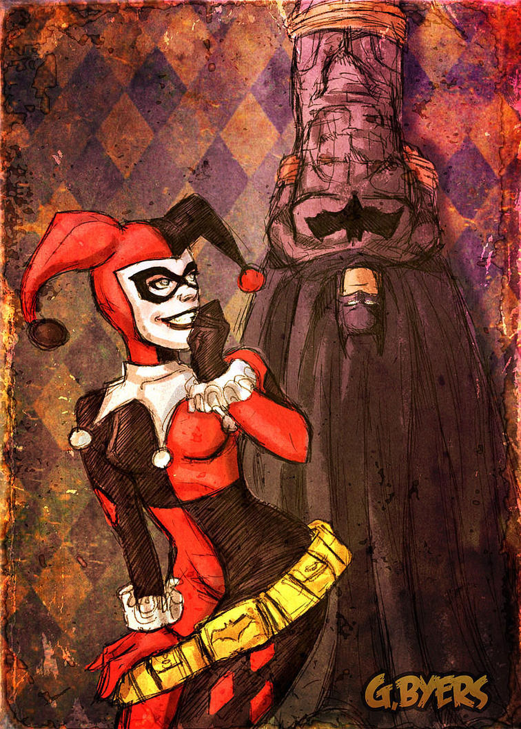 Harley and Batman by GarrettByers