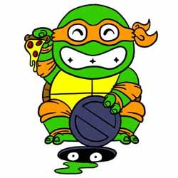 maneki-ninja turtle by rivrav