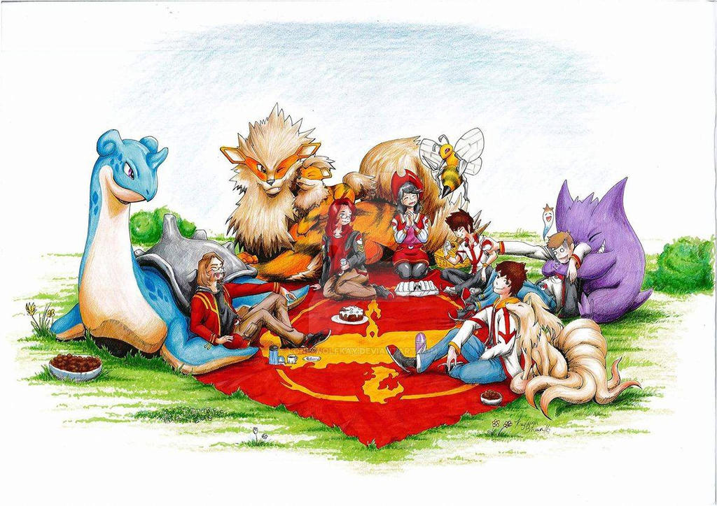 Team Valor's Picnic by Lone-wolfkay
