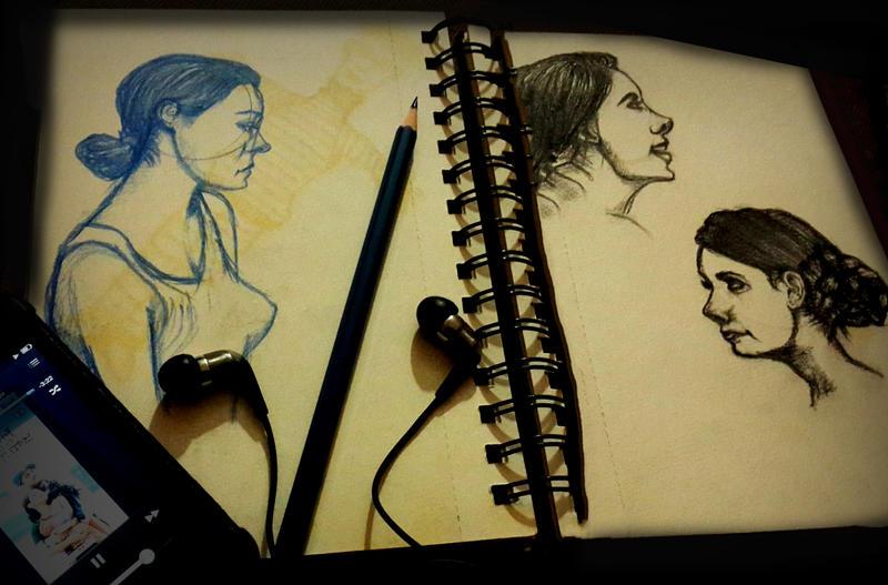 People Sketching - Random Page (Ladies) by nanideviantart