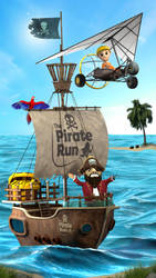 The Pirate Run - Game Poster by nanideviantart