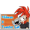 Phineas x Toaster Cat Stamp by Gli7cH3dW0LF