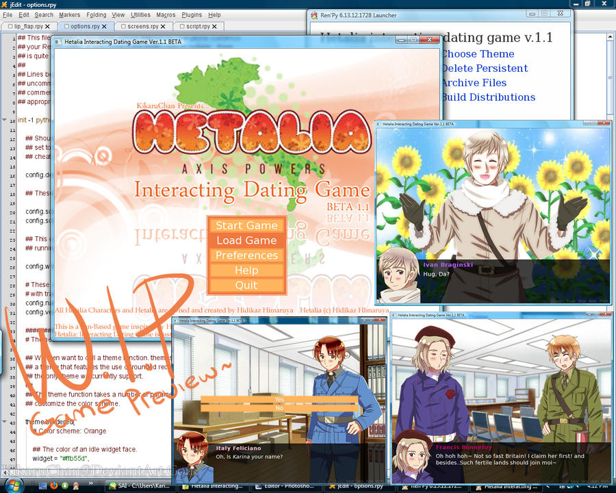 Hetalia dating game online