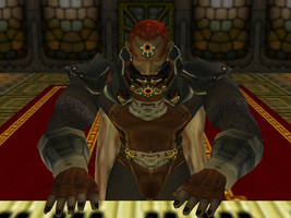 Ganondorf playing his organ by Mewtwo2000