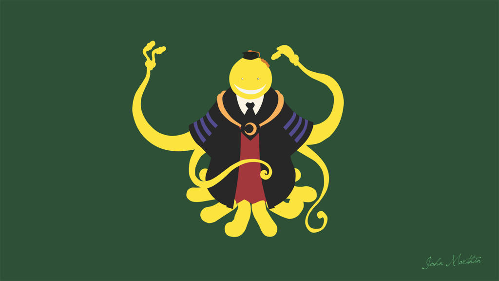 Minimalist Classroom Wallpaper ~ Korosensei minimalist assassination classroom by