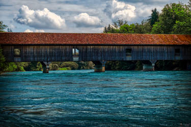 1836 Covered Timber Bridge by LeWelsch
