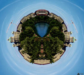Tiny Planet Bern by LeWelsch