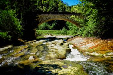 Schwarzwasser Old Bridge by LeWelsch