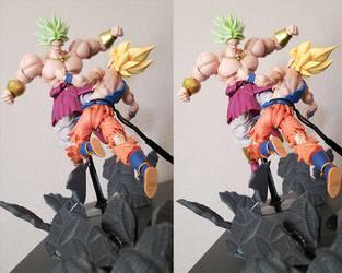 SS Goku vs Broly (Stereoscopic) #1 by 0PT1C5