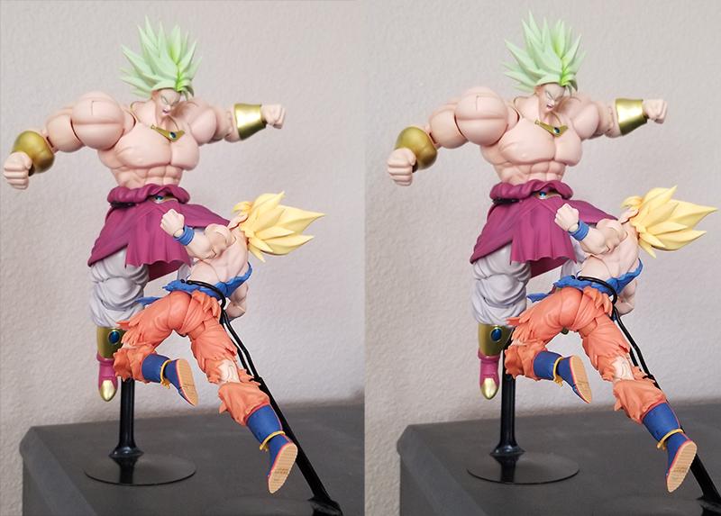 SS Goku vs Broly (Stereoscopic) #2 by 0PT1C5