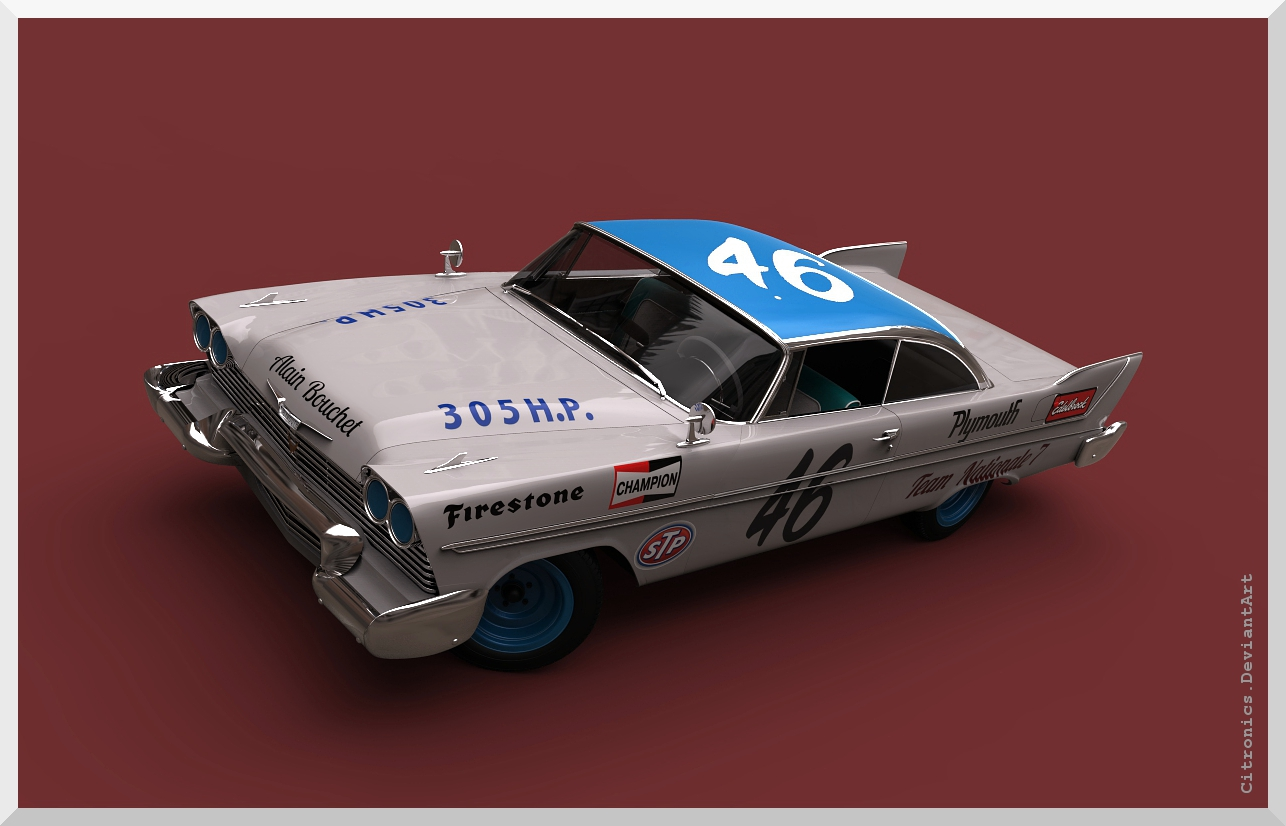 1958 Plymouth Stock Car by Citronics