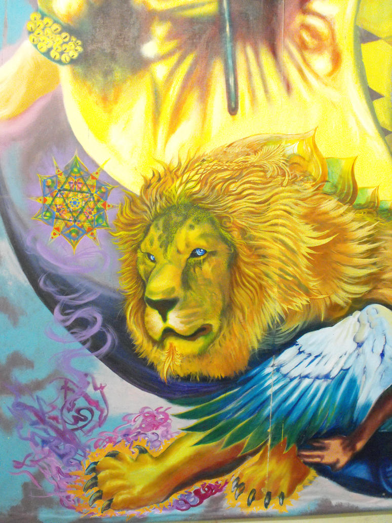 Lion wit Mandala by Thenextyoshitaka