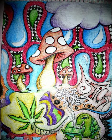trippy mushrooms by dirty-blond on DeviantArt