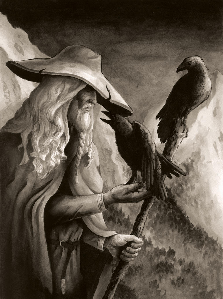 Image of odin and ravens