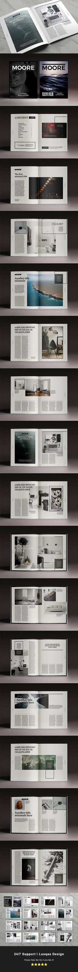 Moore Magazine Indesign Template by luuqas