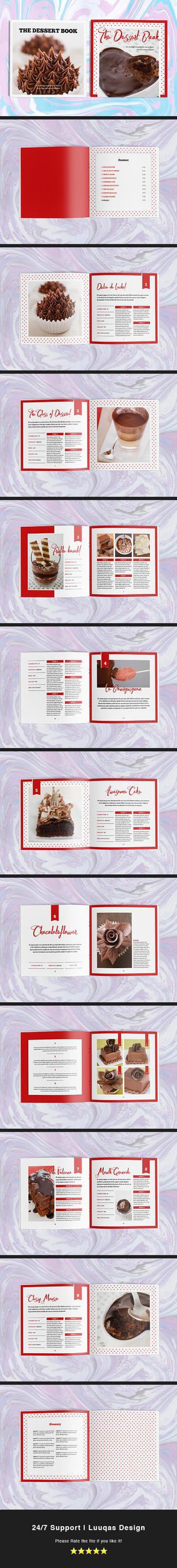 The Dessert Book Indesign Template by luuqas