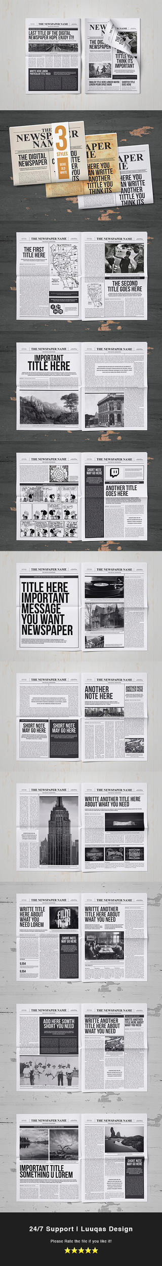 Classy Newspaper Indesign Template by luuqas