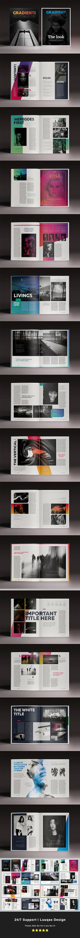 PreviewGradient Magazine Indesign Template by luuqas