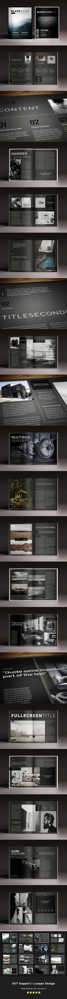 Blackazine Indesign Template by luuqas