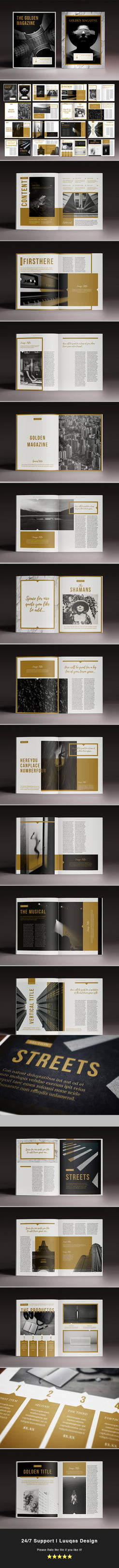 The Golden Magazine Template by luuqas