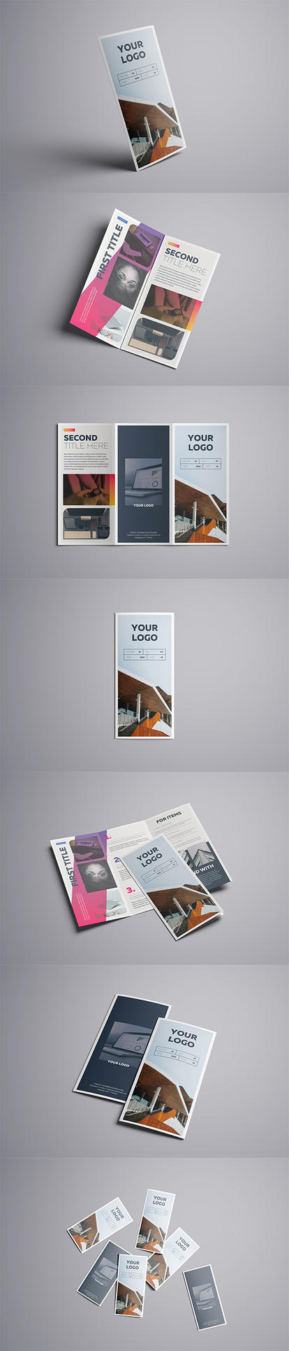 Gradient Trifold A4 Template by luuqas
