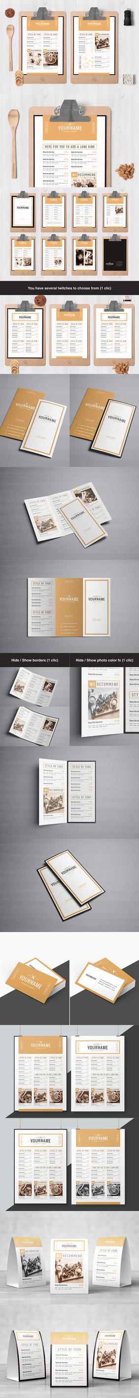Classy Food Menu 8 Template by luuqas