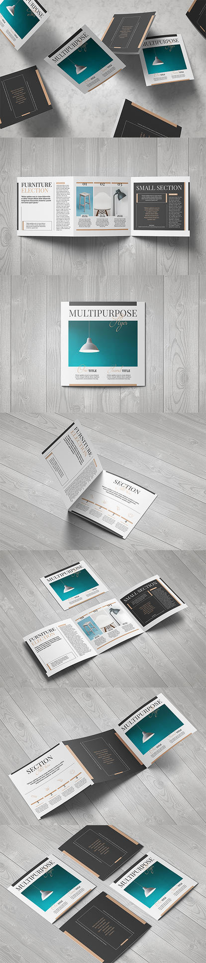 Multipurpose Square Brochure by luuqas