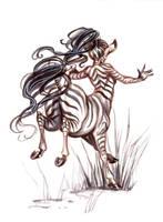 .:: Inktober 2014 - Zebra centaur ::. by Maiwenn