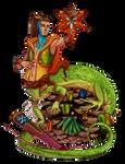 Western green lizard Beeguh - [SOLD] by Maiwenn