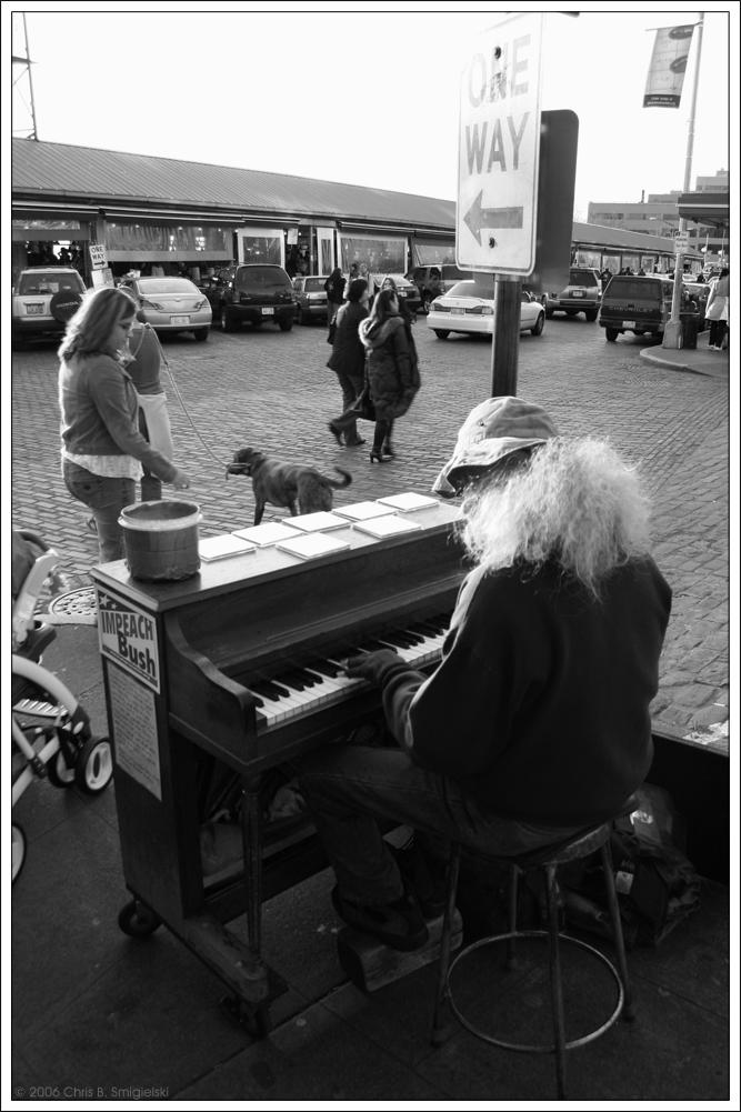 Sidewalk Beethoven by MushroomMagic
