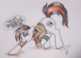 Fallout Equestria Blackjack by EbonyPegasus