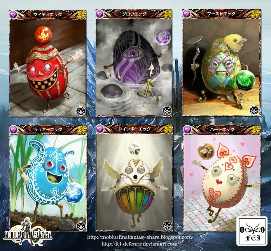 Mobius Final Fantasy - Ability Support - All Eggs by Fei-deFenrir